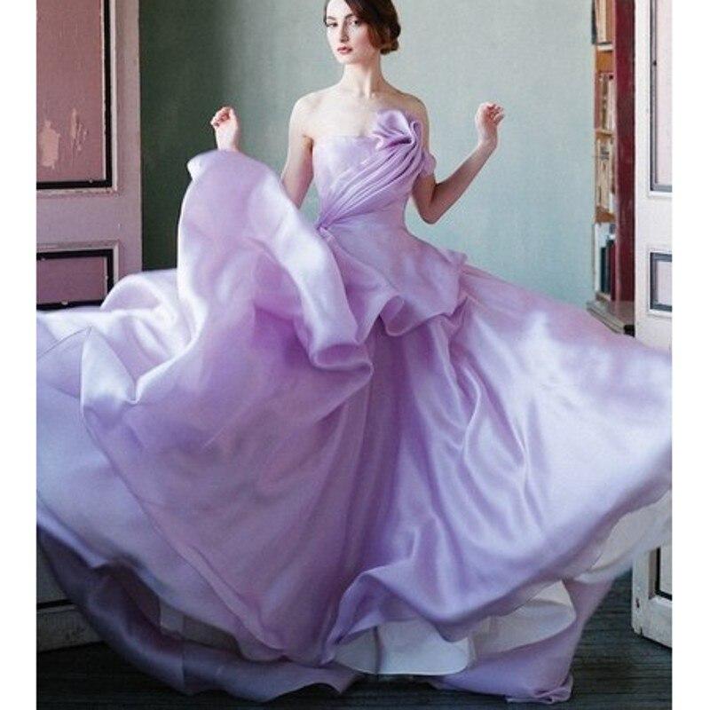 Dorable Vestido De Novia Plisado De Gasa Inspiración - Vestido de ...