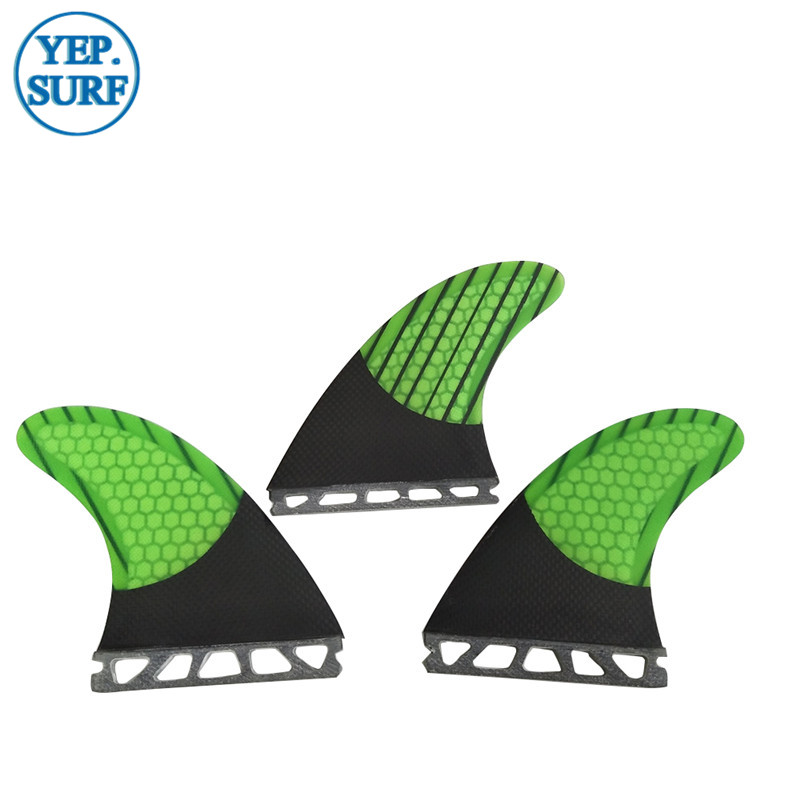 Surf Fins G7/G5 Fibreglass Honeycomb Carbon Fin Green Black G7/G5 Fins Free Shipping prancha quilhas de