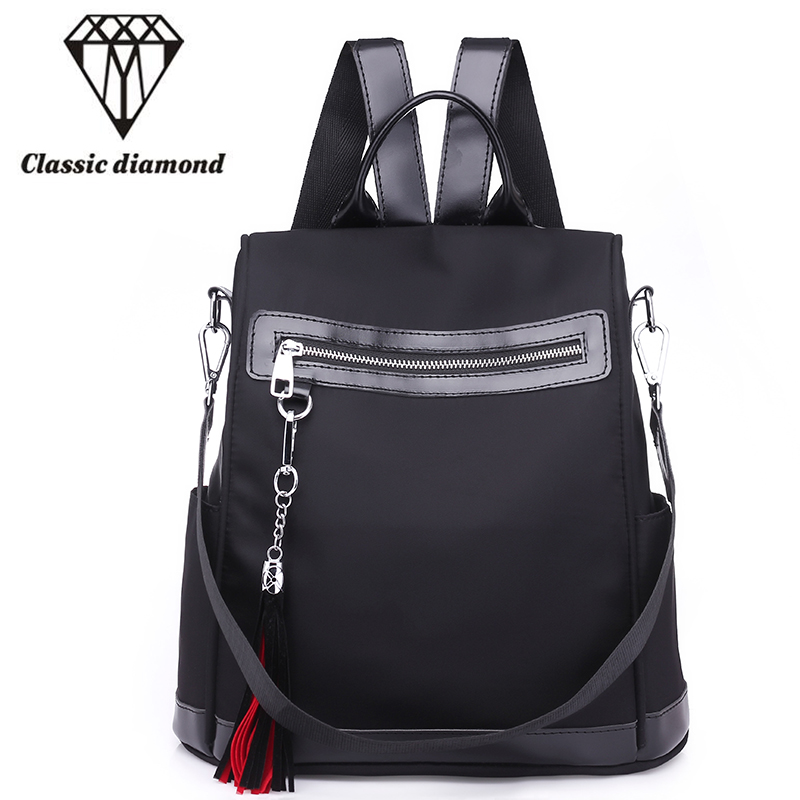 2018 New Fashion Women Backpack High Quality Nylon Shoulder Bag Waterproof School Backpacks For Teenage Girls Small Travel Bag 3157 fashion backpack women bag nylon waterproof school bags for teenage girls headphone plug travel daypack female shoulder bag