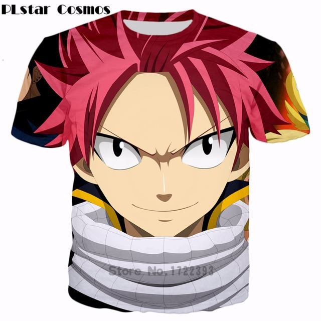 PLstar Cosmos Free Shipping Classic Anime Fairy Tail 3d T Shirt Handsome Natsu Dragneel Characters
