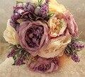 2016 лаванда дешевые свадебные цветы свадебные букеты рамо Novia букет мантия-де-mariage искусственный винтаж невесты букеты аксессуары