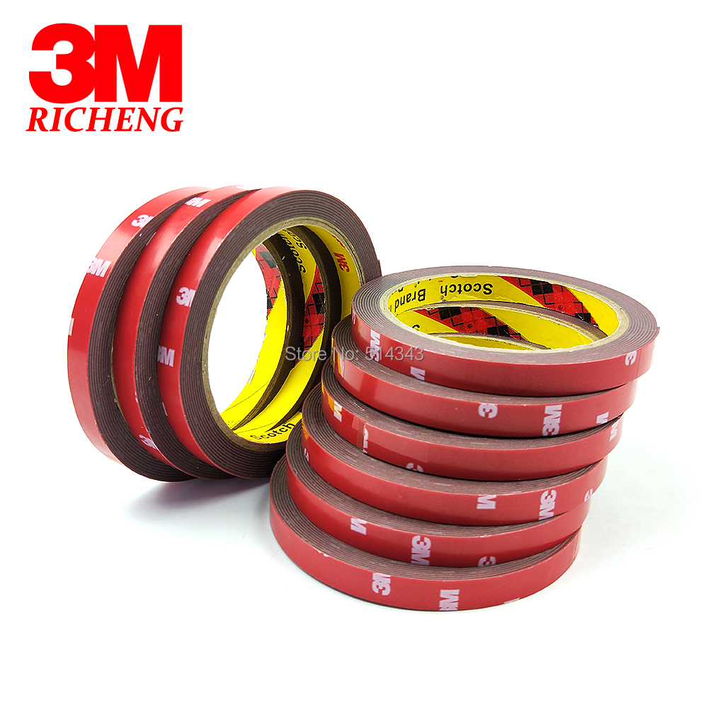 3M 4229P Auto Double Sided Adhesive Foam Acrylic Tape Pressure Sensitive Adhesive Tape 10MM*3M Grey Color 1Pcs