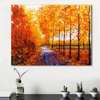 QCART Nature Landscape Autumn Picture No Frame Home Decor Living Room Painting Modern Canvas Print Art Wall Pictures