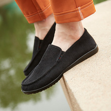 2019 spring and summer new fashion ultra light soft peas shoes breathable casual low old Beijing mens