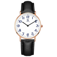 IIKTWOK brand ladies wristwatches waterproof number woman clocks high quality Citizen Movement black red women watches luxury