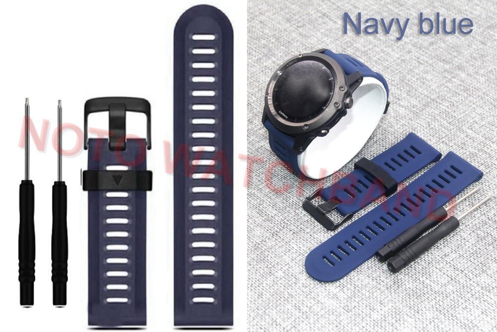 12 цветов 26 мм ширина спорт на открытом воздухе силиконовый ремешок для часов для Гармин силиконовой лентой для Гармин Феникс 3 gmfnx3sb