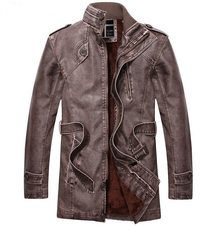 Aliexpress.com : Buy chaqueta cuero hombre winter Leather Jacket ...