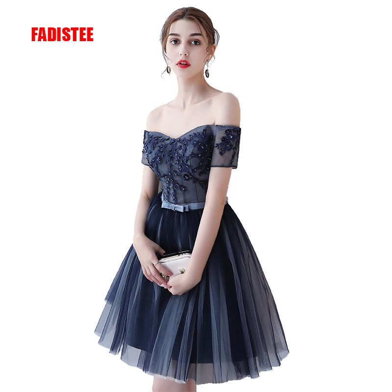 FADISTEE New arrival prom party Dresses Vestido de Festa dress style tulle dress A line appliques