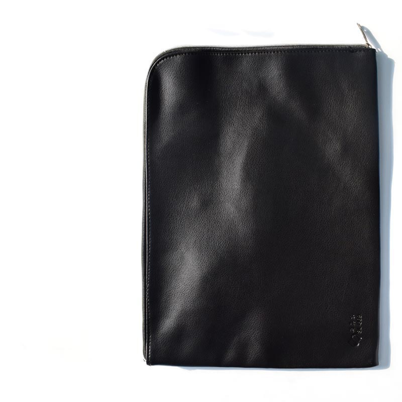 Soft Document Bag Waterproof PU Leather File Folder Document Filing Bag Office Supplies 25*35 Cm