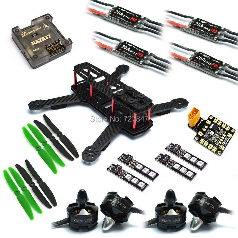 Zmr250 V2 quadcoper Рамки с 4 мм ARM Пчелка 20A OPTO Pro ESC naze32 rev6/F3 полета Управление mt2204 2300kv безщеточный
