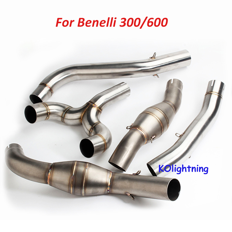 50.8mm Motorcycle Modified Exhaust Middle Pipe Stainless Steel Exhaust Mid Pipe Connecting Pipe Link Pipe For Benelli 300/600 ...