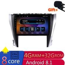 "10.1 ""4G RAM 8 core Android Car DVD di Navigazione GPS Per Toyota camry 2015 2016 2017 audio stereo auto radio autoradio bluetooth"