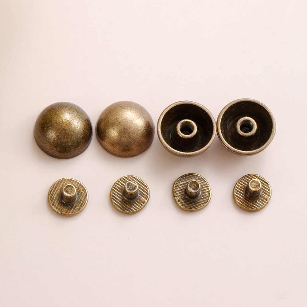Leather Craft Mushroom Dome Strap Rivets Round Head Screws Solid Nail Bolt
