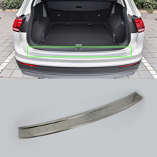 цена на Car Accessories Interior Stainless Rear Outer Bumper Protector Scuff Plate Guard Cover Trim For Volkswagen Tiguan L Car Styling