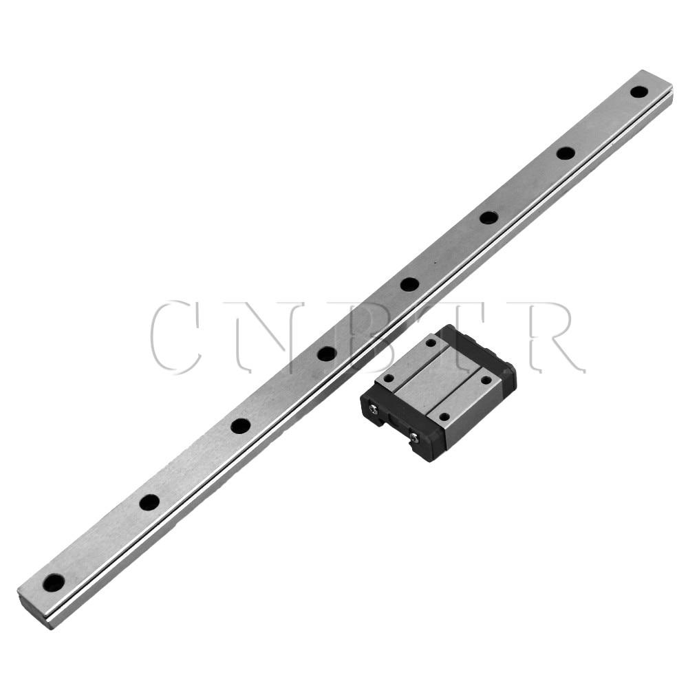 CNBTR 300mm Length Bearing Steel Linear Sliding Guide Slide Rails & MGN15 Linear Extension Block for CNC 3D Printer mr15mn slider 12mn 9mn 7mn 5mn n ml wn wl linear stainless steel rails
