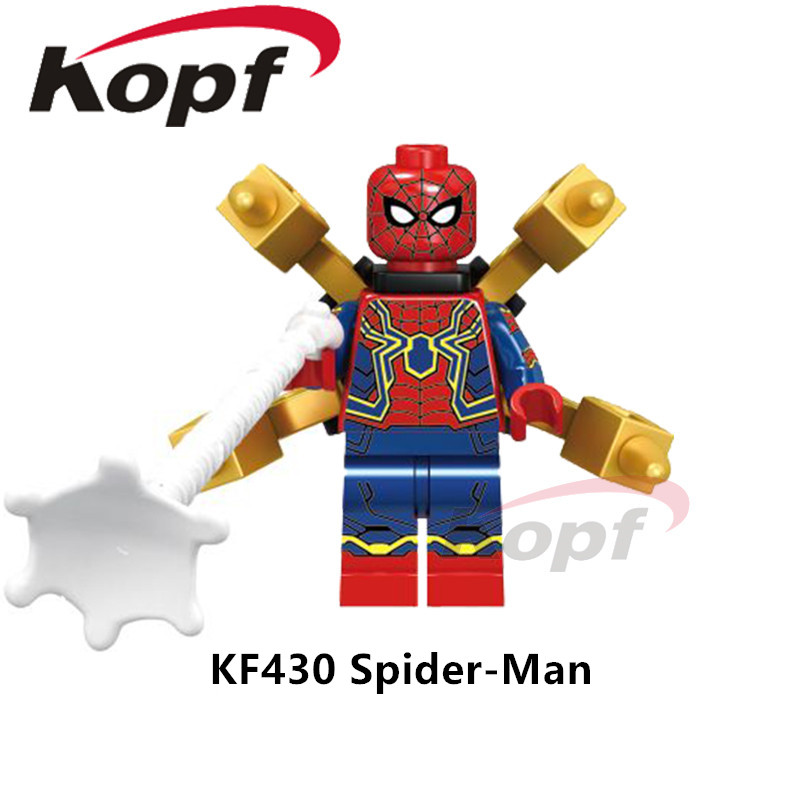 Super Heroes Avengers INFINITY WAR  Building Blocks Outrider Captain America Spiderman Thonos Doll Toys Kids