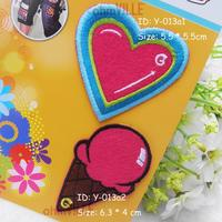Iron On Patches, Made Of Cloth - Love, Ice Cream Appliques 100109,100110 ~ Guaranteed 100% Quality + Free Shipping!!!