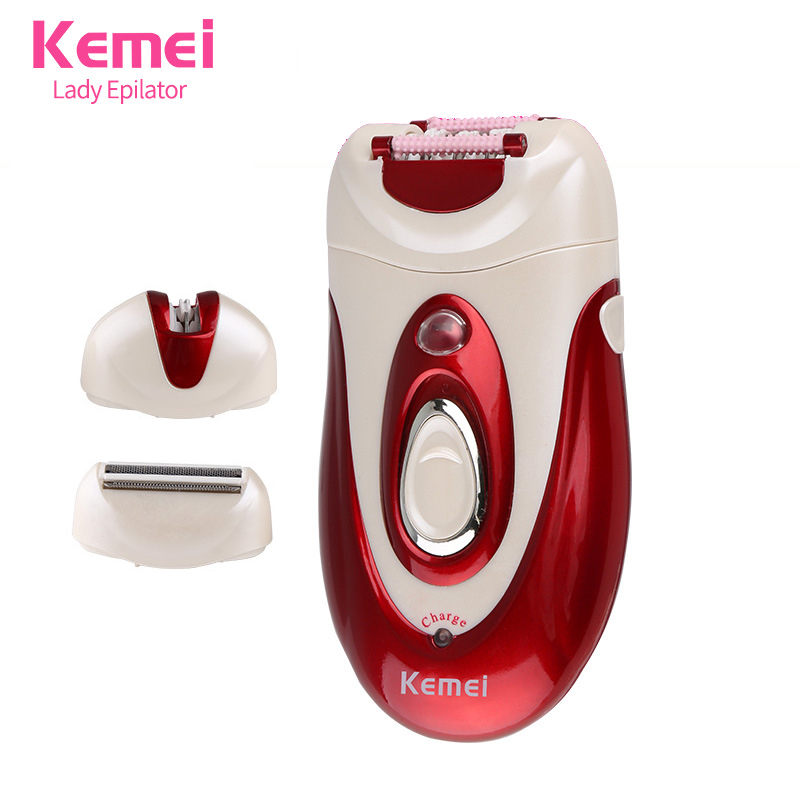 3 in 1 Professional Lady Rechargeable Epilator Depilator Hair Trimmer Shaver Hair Removal for Body Face Undeararm Bikini KM-1888 laser epilator shaving replacement machine head hair removal depilator for g920 y05 c05