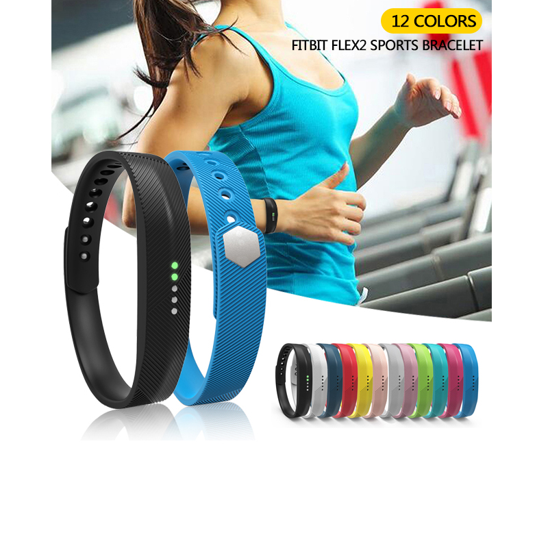 Color Silicone Replacement Wrist Band Strap Bracelet For Fitbit Flex 2 Wristband Smart Band Tracker For Fitbit Flex2 Accessories