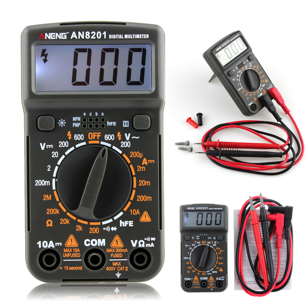 Portable ANENG Digital Multimeter AC/DC Ammeter Voltmeter Ohm Tester with Backlight Diode Tester Multifunctional Meter все цены