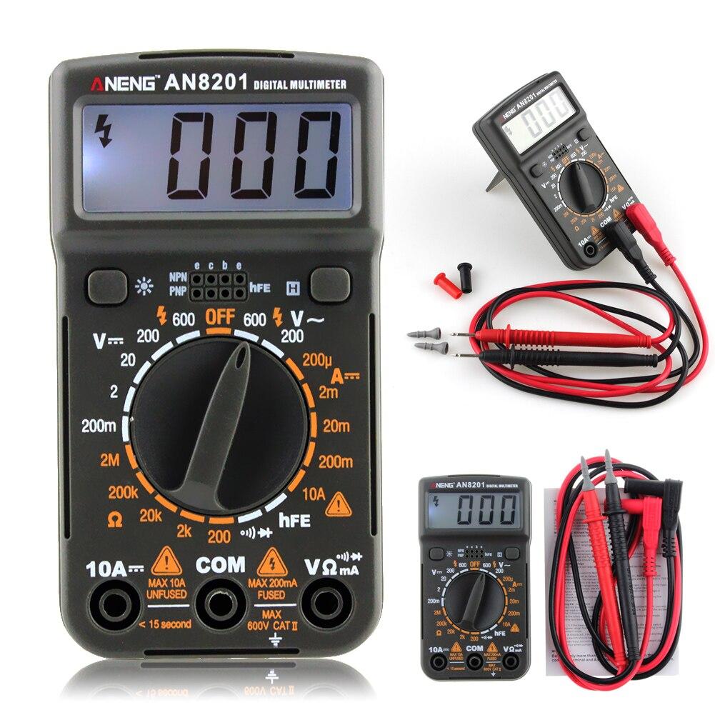 Portable ANENG Numérique Multimètre AC/DC Ampèremètre Voltmètre Ohm Testeur avec Rétro-Éclairage Diode Testeur Multifonctions Mètre