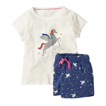 цены unicorn girls sets clothing 4th of july outfit toddler girl clothes kids clothing boutique kid christmas outfit fashion cartoon