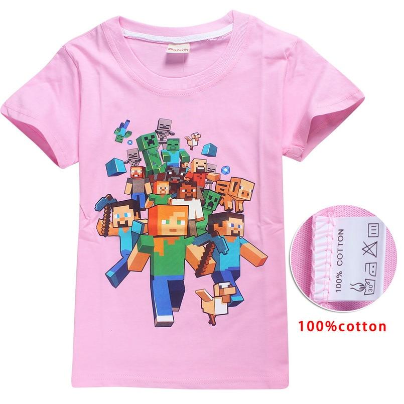 2018 Minecraft Baby Boys Girls Clothing Casual pajamas Suits nightclothes for Boys Girls nightshirt Spring Autumn kids sleepwear