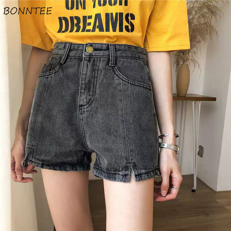 Shorts Women Retro Simple Large Size Soft Summer Korean Style Loose Womens Trendy Students All-match Breathable High Waist Chic