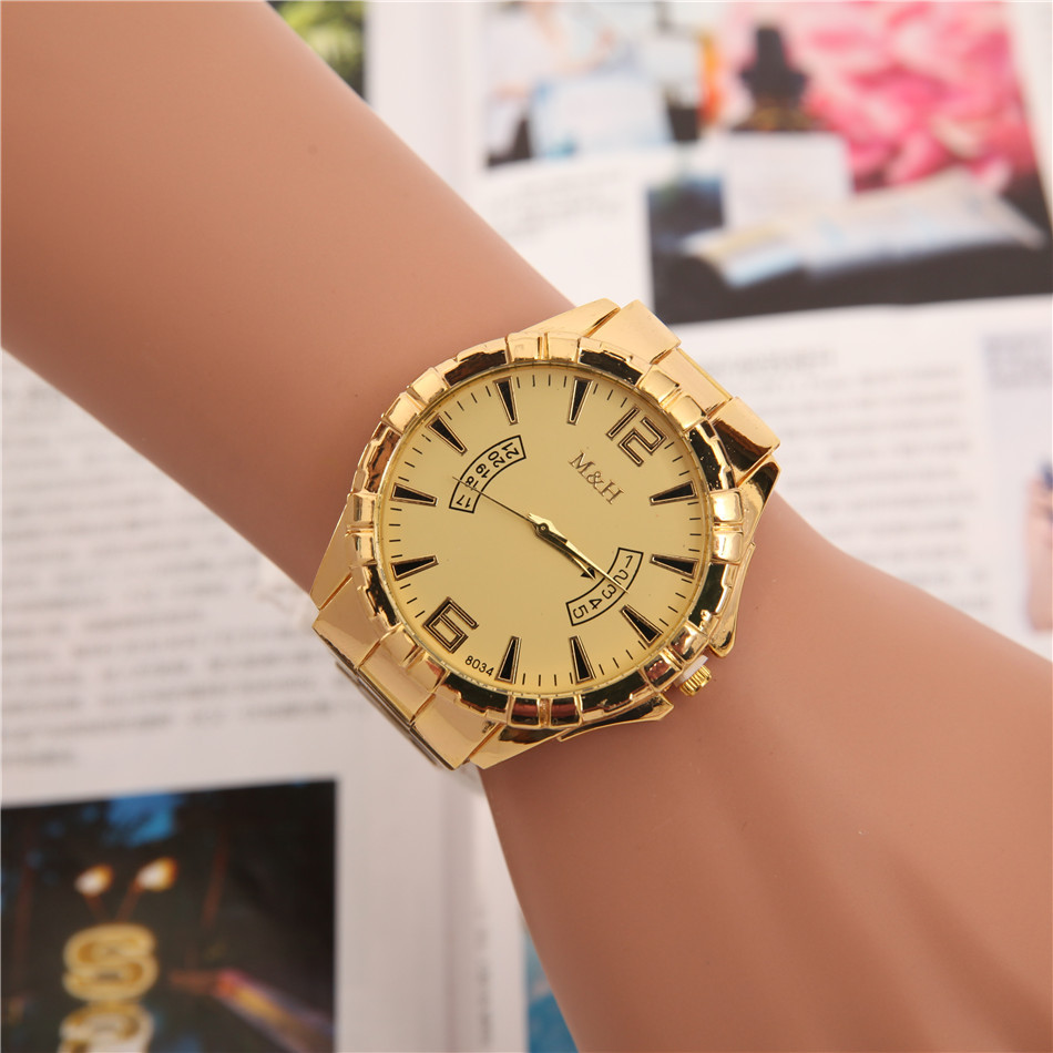 Man Watch 2018 New Stainless Steel Band Wristwatch Analog Dial Mens Watch Business Men Quartz Watches Male Dress Clock Relogios