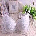 8396 # marca new push up bra, 34/75 36/80 38/85 B copa bras para as mulheres, a curva de impressão sexy rendas roupa interior das senhoras, 2016 de moda lingerie
