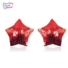 1 Pair Adult Sex Self Adhesive Nipple Cover Star Shape Silicon Breast Pasties Sex Toys For Woman DW-128