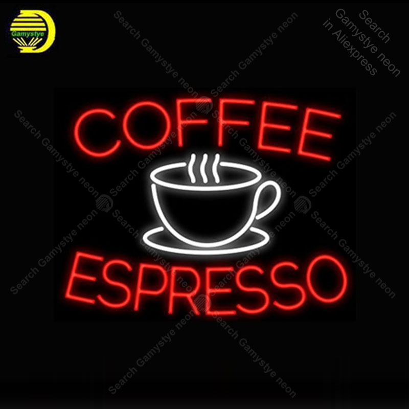 Neon Sign for Coffee Espresso Cup Neon Bulb Sign lamp Display Beer Bar Light up wall Neon Sign for Room Custom nein HandcraftedNeon Sign for Coffee Espresso Cup Neon Bulb Sign lamp Display Beer Bar Light up wall Neon Sign for Room Custom nein Handcrafted