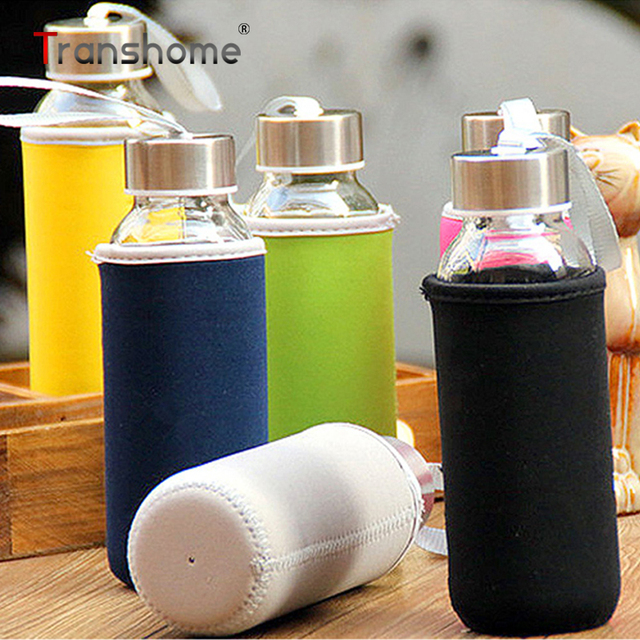 65c7af539c290d Transhome Borosilicate Glass Bottle for Water 300ml Creative Eco-friendly  Leak-proof Portable Bottles With Bag for Outdoor Sport