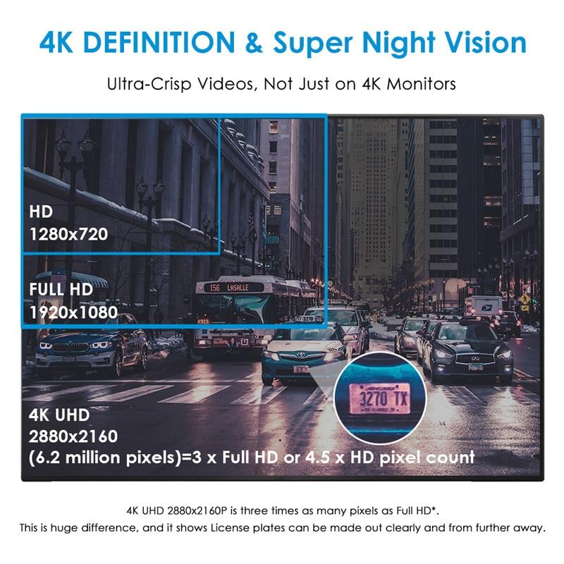 AZDOME GS63H WDR 4K Built in GPS WiFi dash cam Night Vision car camera recorder Dual Lens Vehicle Rear View car dvr - 4