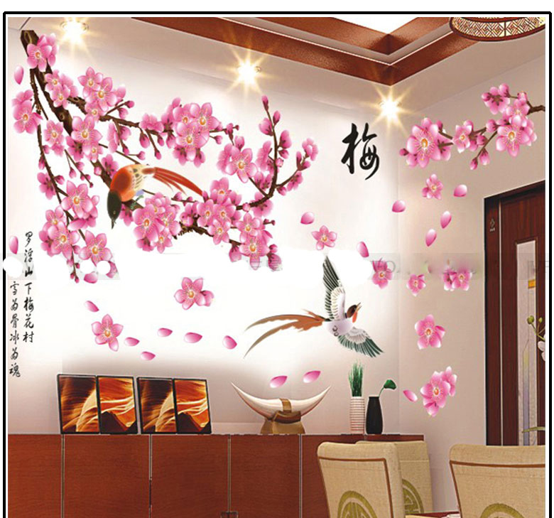 Best Price Year The magpies plum flower Room House Glass ...