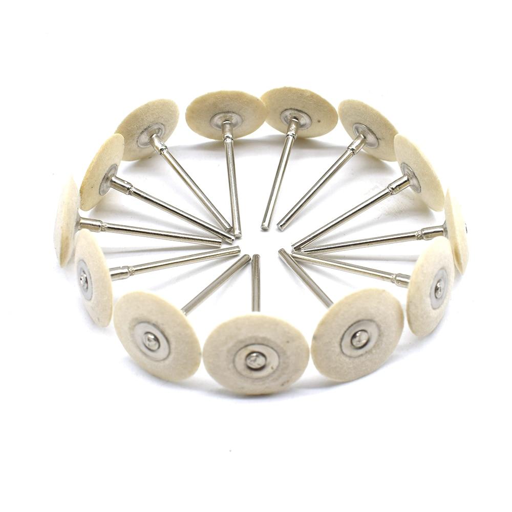 High Quality Mounted Hard Felt Wheel Hard Wool Polishing Head Grinding Jewelry Abrasive Tools Metals 2.35mm Shank