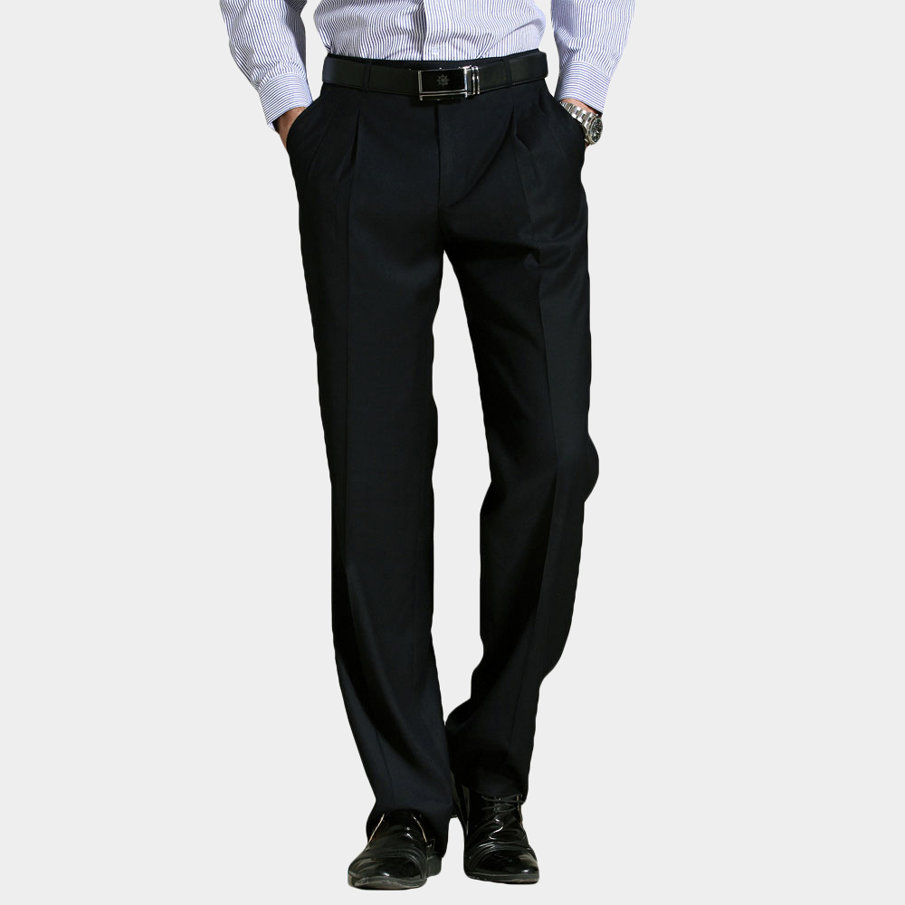 Big Size 29-56 Men Suit Pants Classic Style Solid Color Straight Loose Man Formal Wear Business Casual Pants Trousers