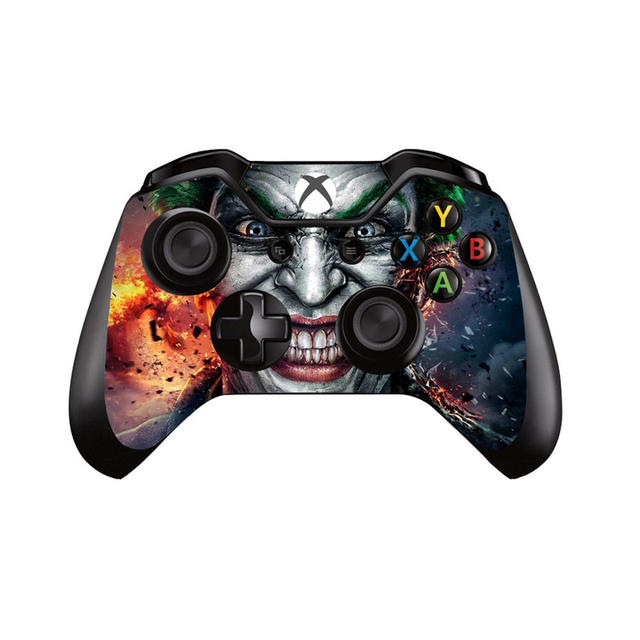 Joker Design Vinyl Skin Sticker Cover For Microsoft XBOX ONE Console with Gamepad Decal Covers For Xbox one Controller Controle