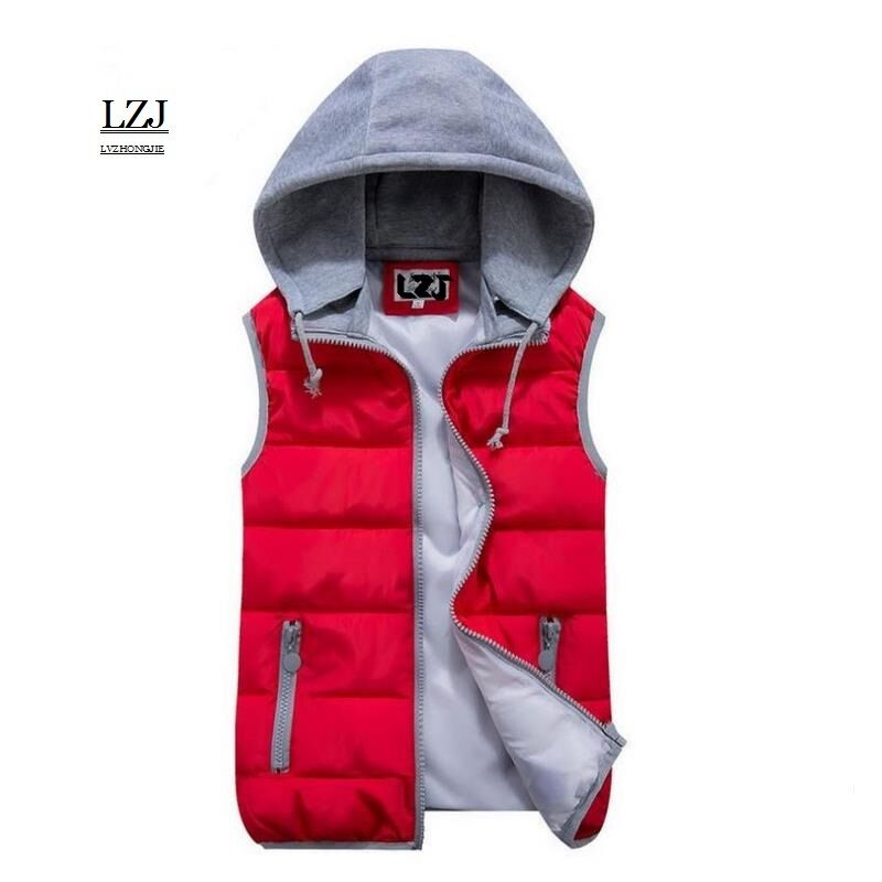 LZJ 2017 Brand Women Sleeveless Jacket Winter Ultralight White Duck Down Vest Female Slim Vest Women