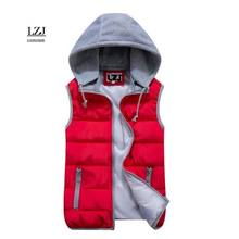 LZJ 2017 Brand Women Sleeveless Jacket Winter Ultralight White Duck Down Vest Female Slim Vest Women's Windproof Warm Waistcoat(China)