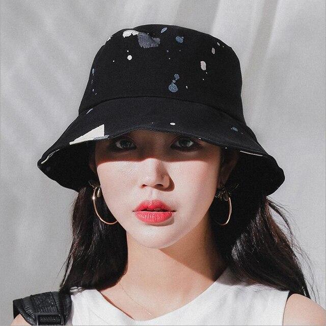 2018 אביב קיץ למבוגרים דלי כובע ססגוני גרפיטי בוב כובעי היפ הופ Gorros גברים נשים קיץ כובעי חוף שמש דיג כובע