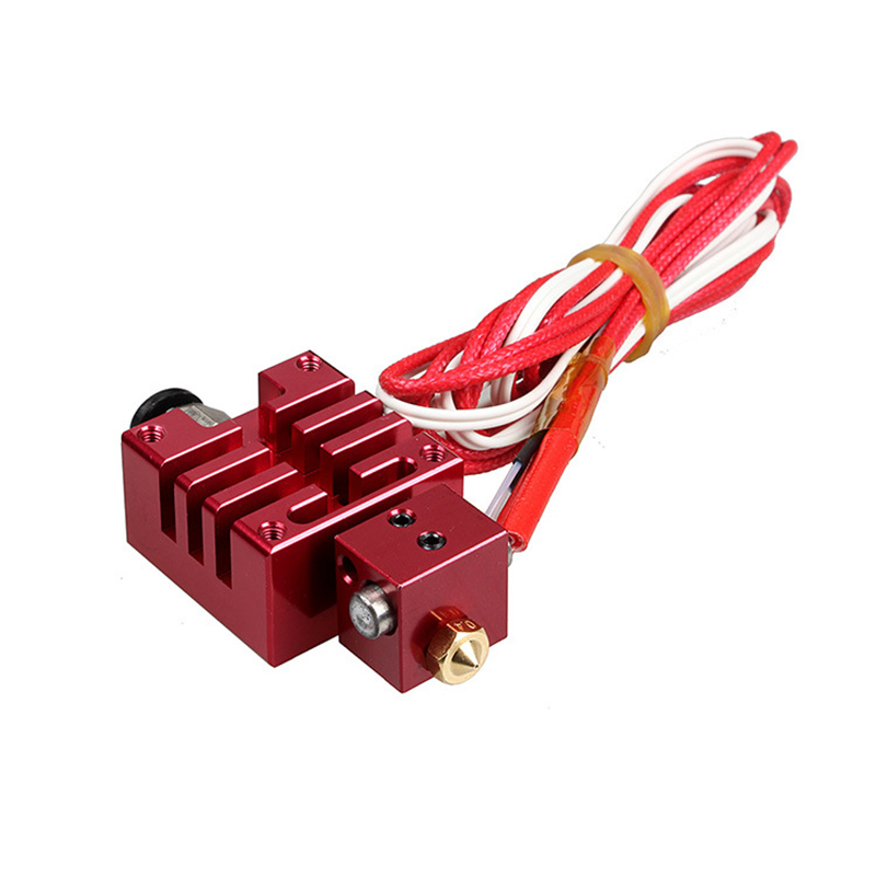 все цены на  Single Nozzle Improved Version Hotend Kit with Thermistor and Heater Red Color 0.4mm/1.75mm 12V 40W for e3d 3D Printer Parts  онлайн