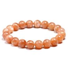 Натуральный оранжевый Солнечный камень искусственный браслет
