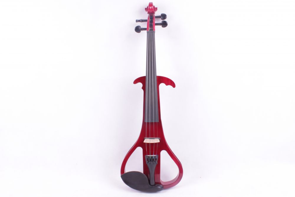 red 4/4 Electric Violin Silent Pickup Fine tone Solid wood Blue 3# the item is the color if you need other color please tell me handmade new solid maple wood brown acoustic violin violino 4 4 electric violin case bow included