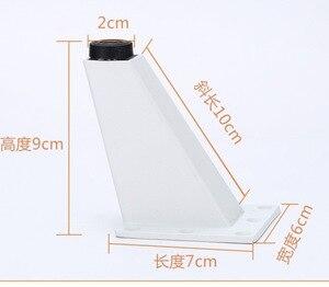 Image 2 - 4Pieces/Lot H:9CM Aluminum Alloy Sofa Foot Tea Table Sofa Leg Bed  TV Cabinet Furniture Feet