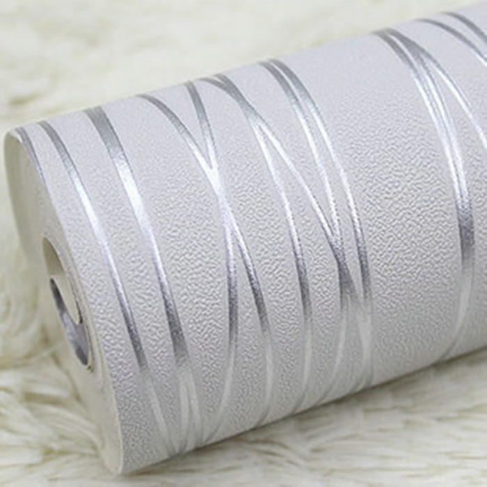 Rollos de breve moderno papel pintado a rayas gris blanco - Papel pared moderno ...