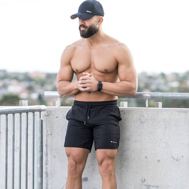 Mens Gyms Fitness Shorts Summer Casual Fashion Cool Short Pants Male Jogger Bodybuilding Workout Man crossfit Beach Sweatpants 2