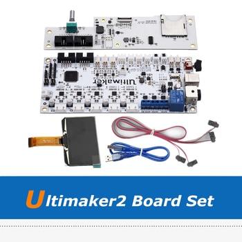 Ultimaker2 3D Printer Part DIY Full Board Set Kit, UM2 V2.1.4 Control Panel + LCD Screen + Motherboard printer control key board for hp 500 800 hp500 hp800 control panel assembly display