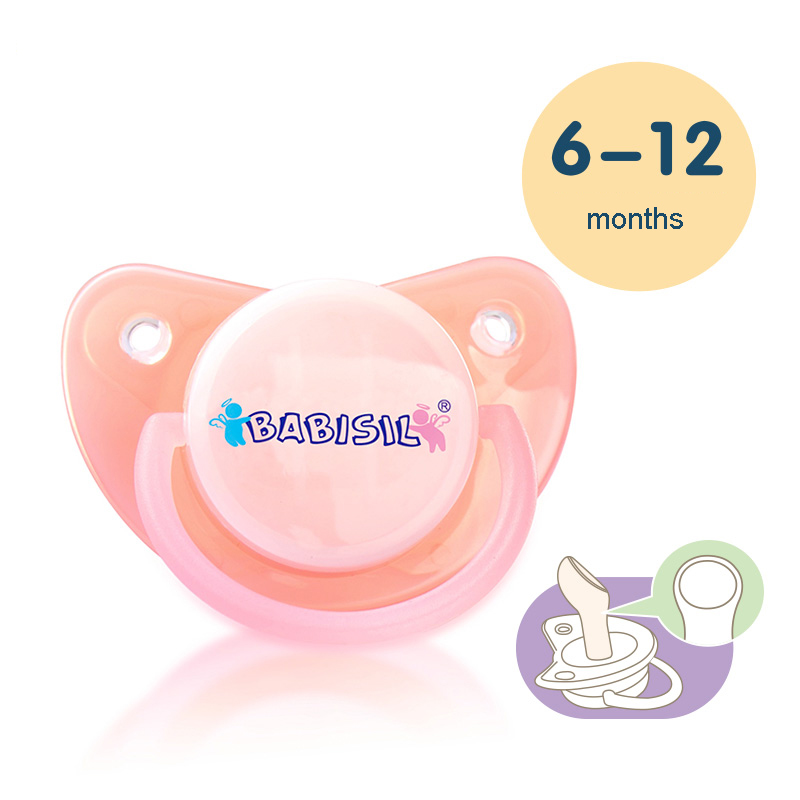 Baby Pacifier Pink Safe Food Grade Silicone Infant Funny Baby Sucette Teeth Soothers Pacifiers 1PC Free Shipping