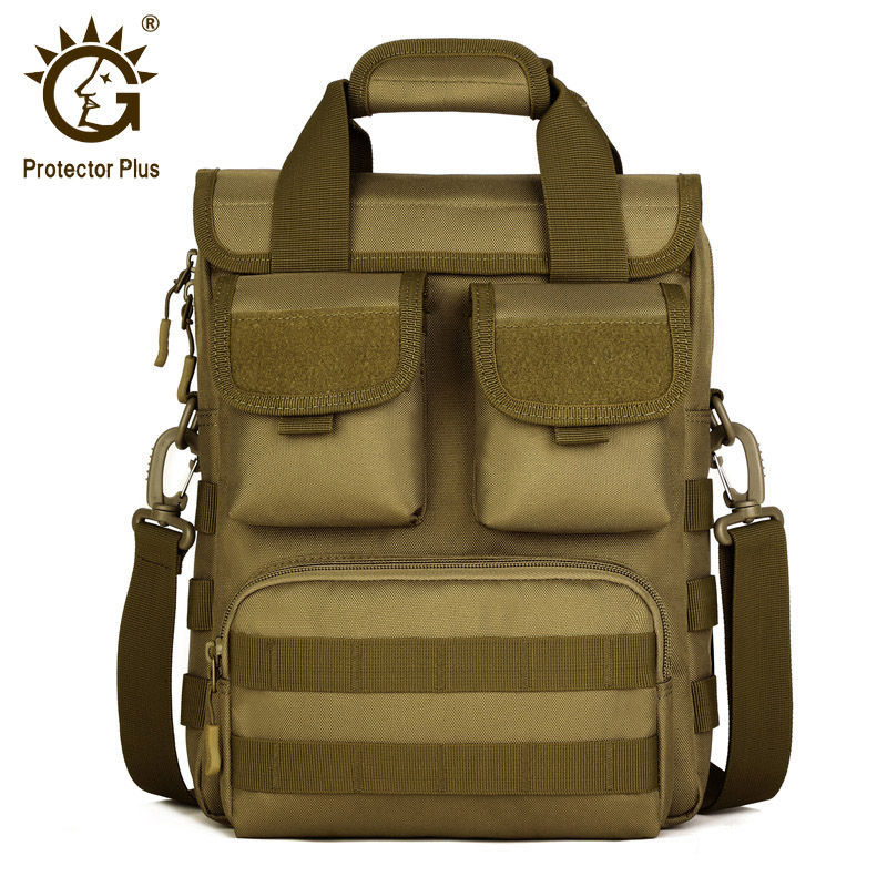 Protector Plus Nylon Tactical Shoulder Bag Black Khaki Military Molle Handbag Army Camouflage Men's Utility Crossbody Bag fire maple sw28888 outdoor tactical motorcycling wild game abs helmet khaki